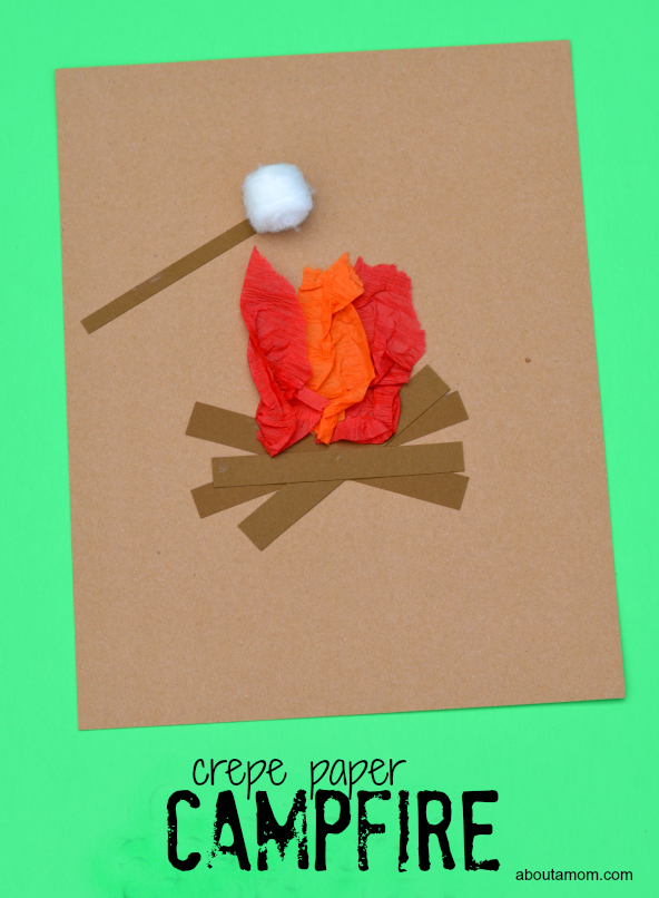 Fun campfire kid craft inspired by a favorite summertime activity, roasting marshmallows.