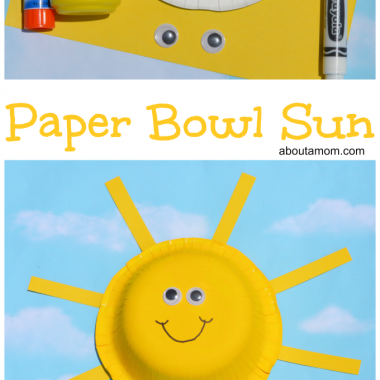 Paper Bowl Sun Craft for Kids