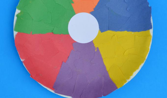 Paper Plate Beach Ball Craft