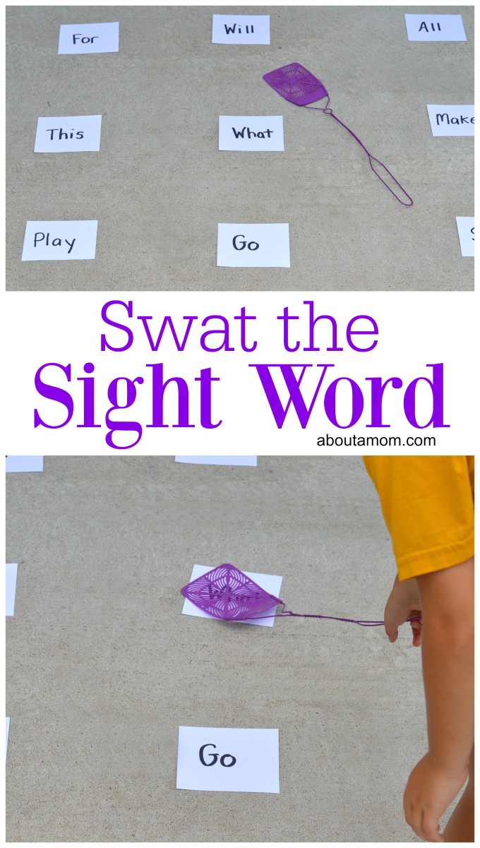 This sight word activity is a fun learning activity that also provides grow motor activity for kids.