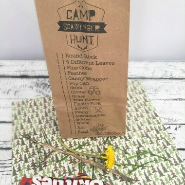 Printable Camp Scavenger Hunt Bags