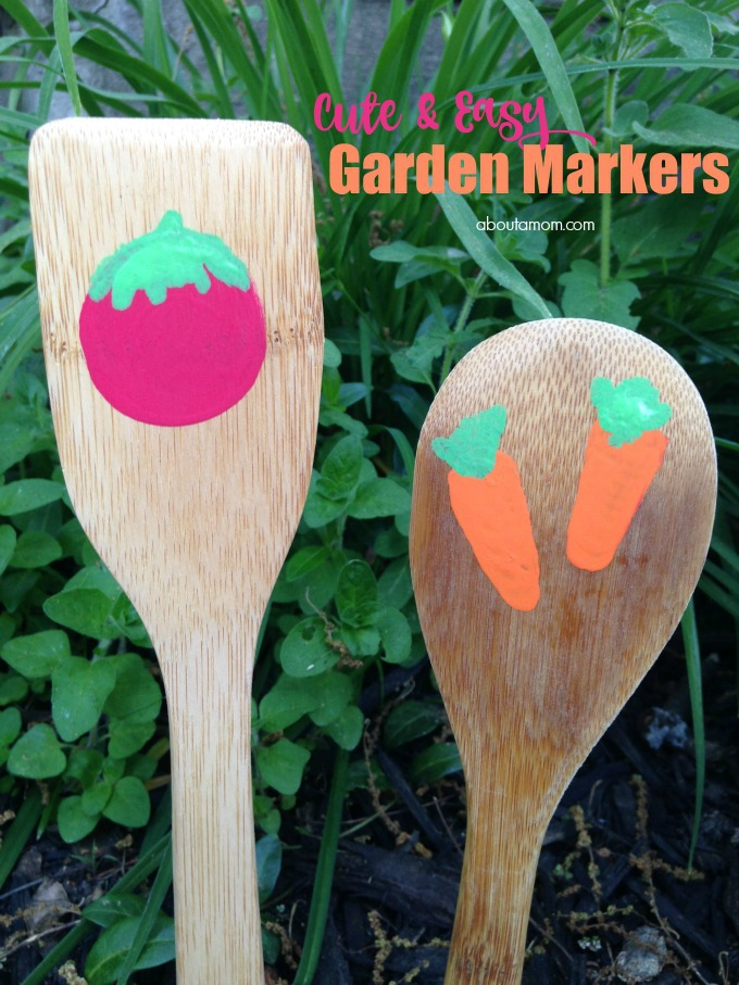 Cute, Easy DIY Garden Markers Made With Wooden Spoons