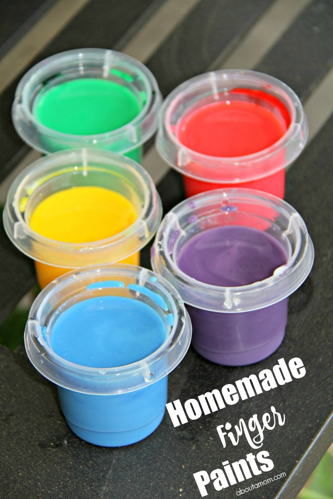Make homemade finger paint and how to clean up afterwards