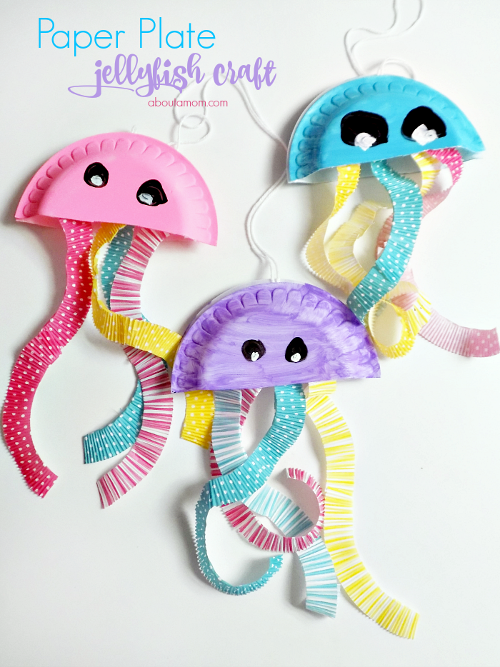 Paper Plate Jellyfish Craft Summer Fun Series About A Mom