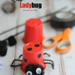 Simple. easy to make Lady bug craft that uses recycled K-cups. Upcycled crafts.