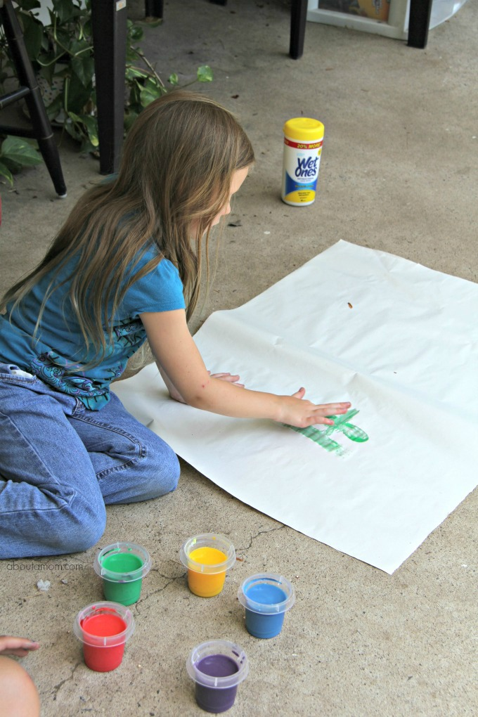 Willow Painting Make homemade finger paint and how to clean up afterwards