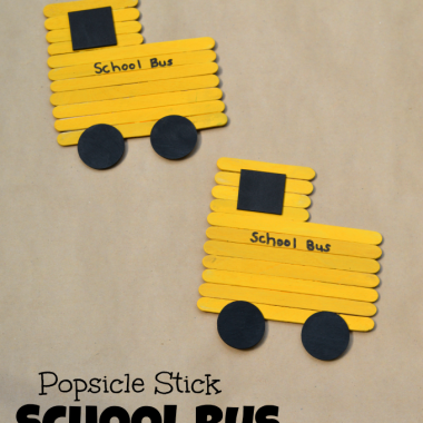 Get the kids excited about going back to school with this popsicle stick school bus craft.