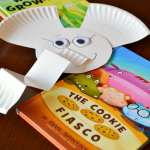"""Were you worried that """"The Thank You Book"""" would be the last we heard from Elephant and Piggie? Beloved children's book author, Mo Willems, has a brand new Elephant & Piggie Like Reading! series for beginning readers. Get excited with this fun Gerald the Elephant paper plate craft."""