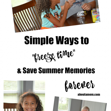 """So many fun memories are made over summer break when the kids are out of school. Here are some simple ways to """"freeze time"""" and save summer memories forever."""
