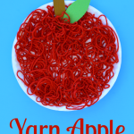 Yarn Apple Craft for Kids