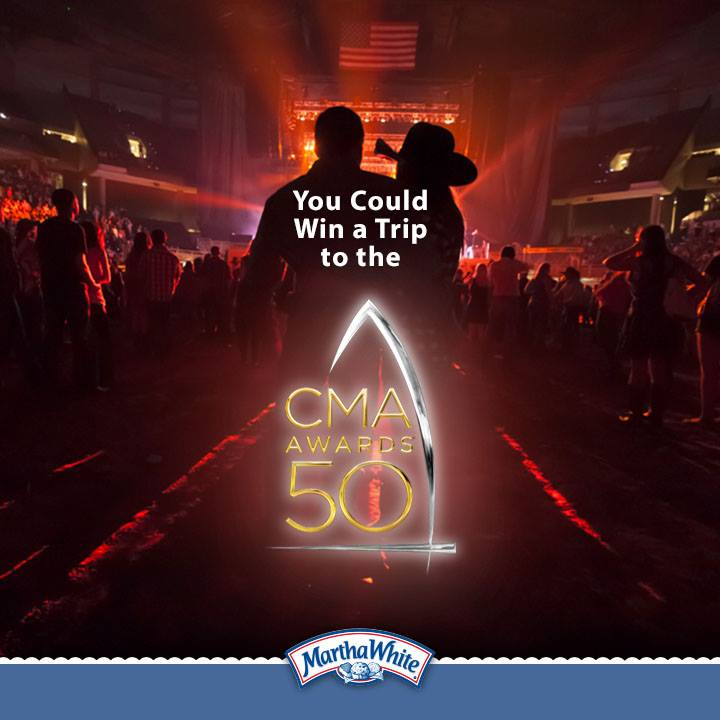 Enter for your chance to win a trip for two to the CMA Awards!