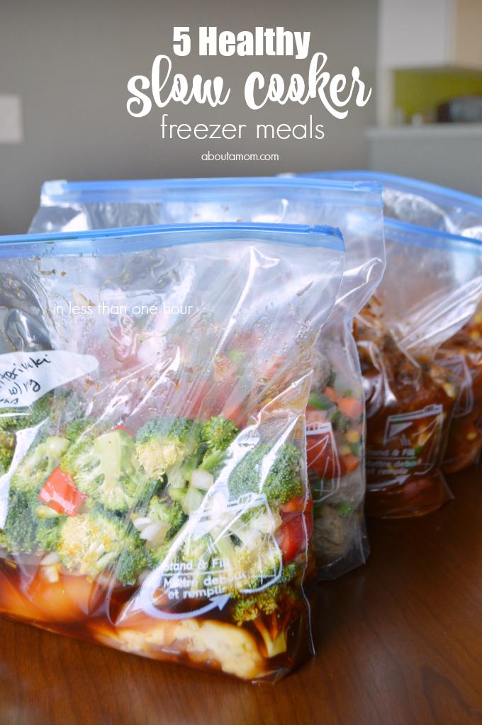 5 Healthy Slow Cooker Freezer Meals