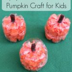 An upcycle craft project that we created for fall! These adorable little pumpkins are perfect for kids to use to decorate their bedrooms for fall or to use at your upcoming Harvest party.
