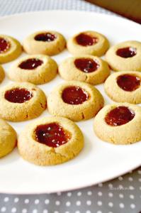 Cornmeal Thumbprint Cookies with Strawberry Jalapeño Fruit Spread ...