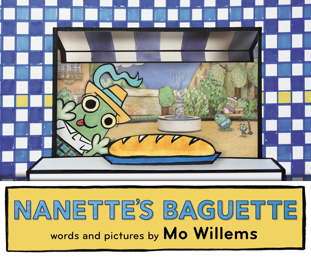 Mo Willems' hilarious new picture book, Nanette's Baguette, follows our plucky heroine on her first big solo trip to the bakery.
