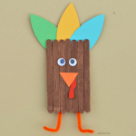Popsicle Stick Turkey Craft