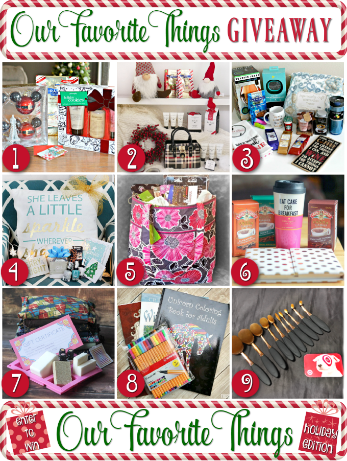 My Favorite Things Holiday Giveaway Hop