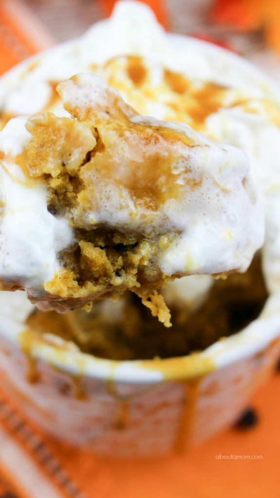 Moist and delicious pumpkin spice latte mug cake can be made in less than 5 minutes, and has all the same great flavors as your coffee shop favorite.