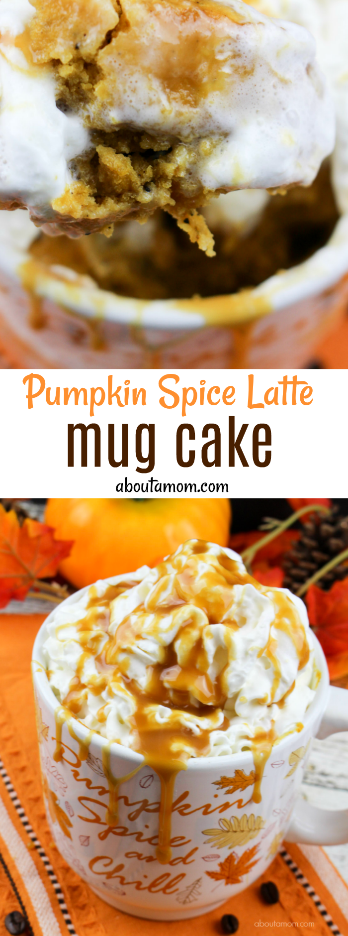 Pumpkin Spice Latte Mug Cake Recipe - Dessert doesn't get any easier than this!