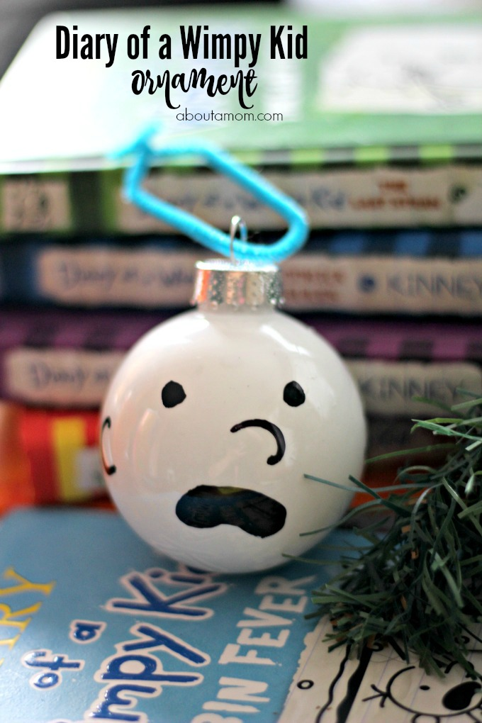 Diary of a wimpy kid ornament personalize the tree for for Diary of a wimpy kid crafts