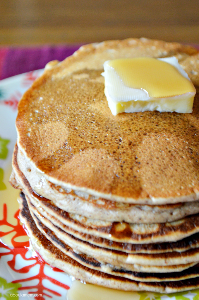 Make breakfast extra special this holiday season with these fragrant spiced Gingerbread Pancakes, topped with Cinnamon & Brown Sugar Syrup.