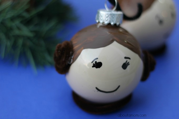 Leia and Hans Solo Ornaments