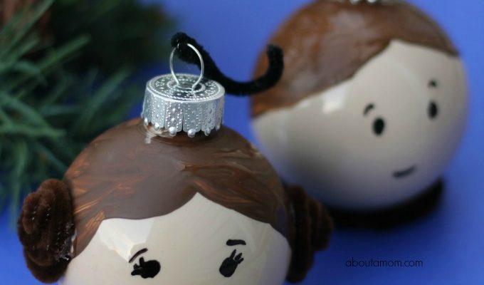 Leia and Hans Solo Ornaments