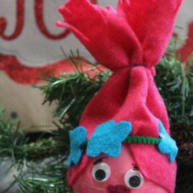 DIY Poppy Troll Ornament