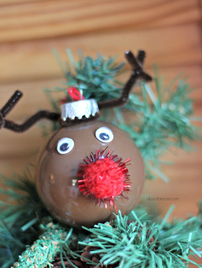 DIY Reindeer Ornament: Personalize Your Tree: They are great for the tree and also to add to a present or wreath for a little whimsy.