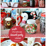 Simple Hot Chocolate Bar and Christmas Dessert Party Ideas