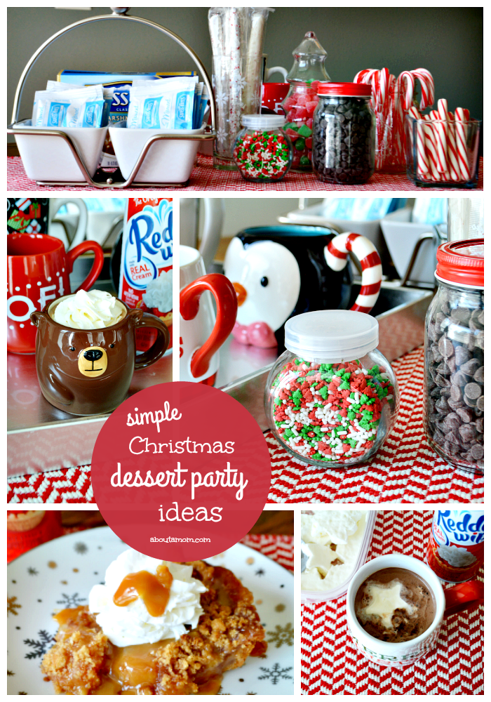 Simple hot chocolate bar and christmas dessert party ideas for Desserts to take to a christmas party