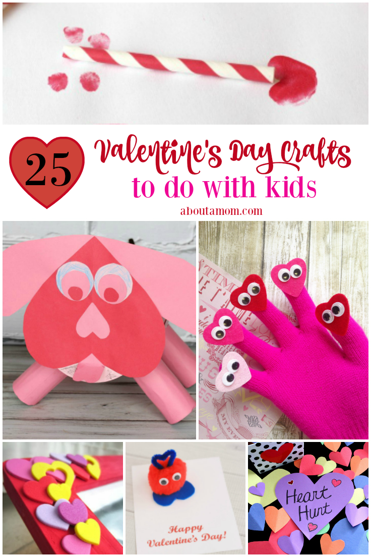 25 fun valentine 39 s day crafts for kids about a mom for Kids valentines day craft