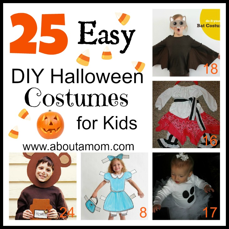 25 Easy DIY Halloween Costumes for Kids