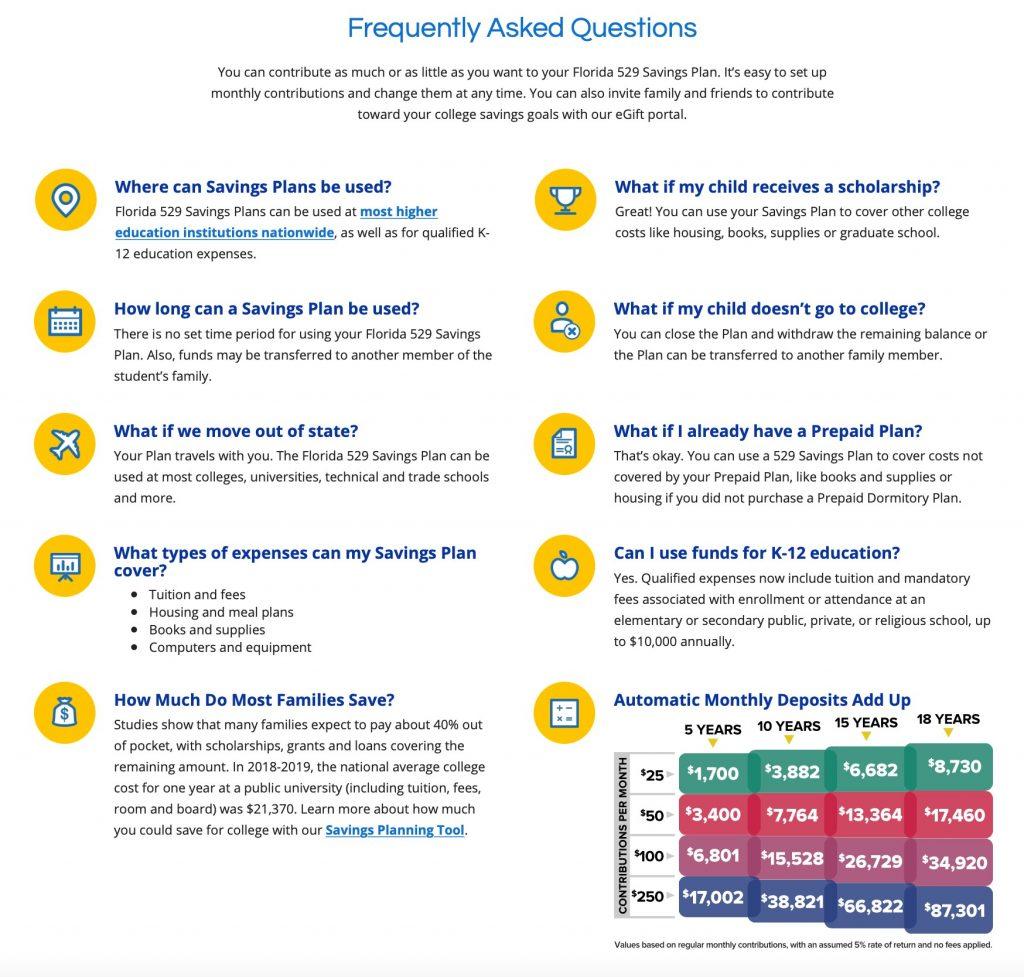 Florida 529 Plan FAQ's