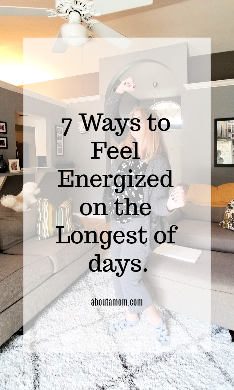 It requires a lot of energy for me to be a good parent, run a business, and maintain some semblance of a social life. I've found some things that help give me a boost. Here are 7 ways to feel energized on the longest of days.