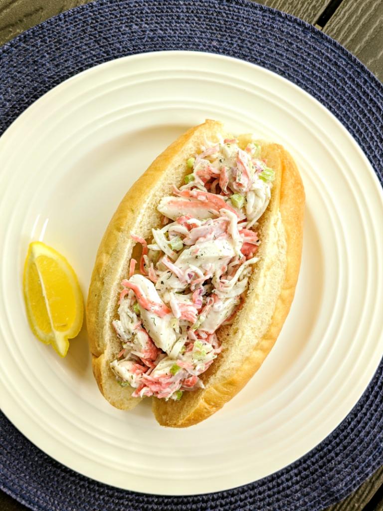 seafood salad hoagie