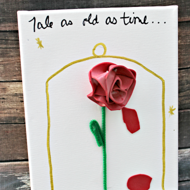 This simple DIY Beauty and the Beast Canvas is a fun art project to do with the kids.