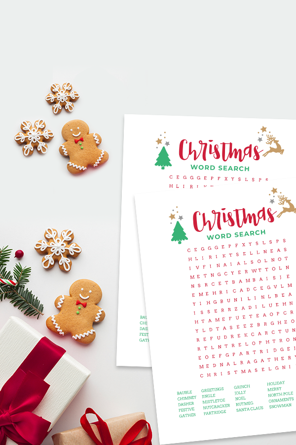 Looking for a fun Christmas word search printable? This Christmas word search is perfect whether you are looking for a fun way to keep kids busy over the school break, or your kids just want something fun to do.