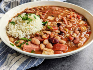 Slow Cooker Cajun 15 Bean Soup with Sausage, Chicken and Bacon - A flavorful and hearty Cajun 15 bean soup that will everyone will love, made easy in the slow cooker!