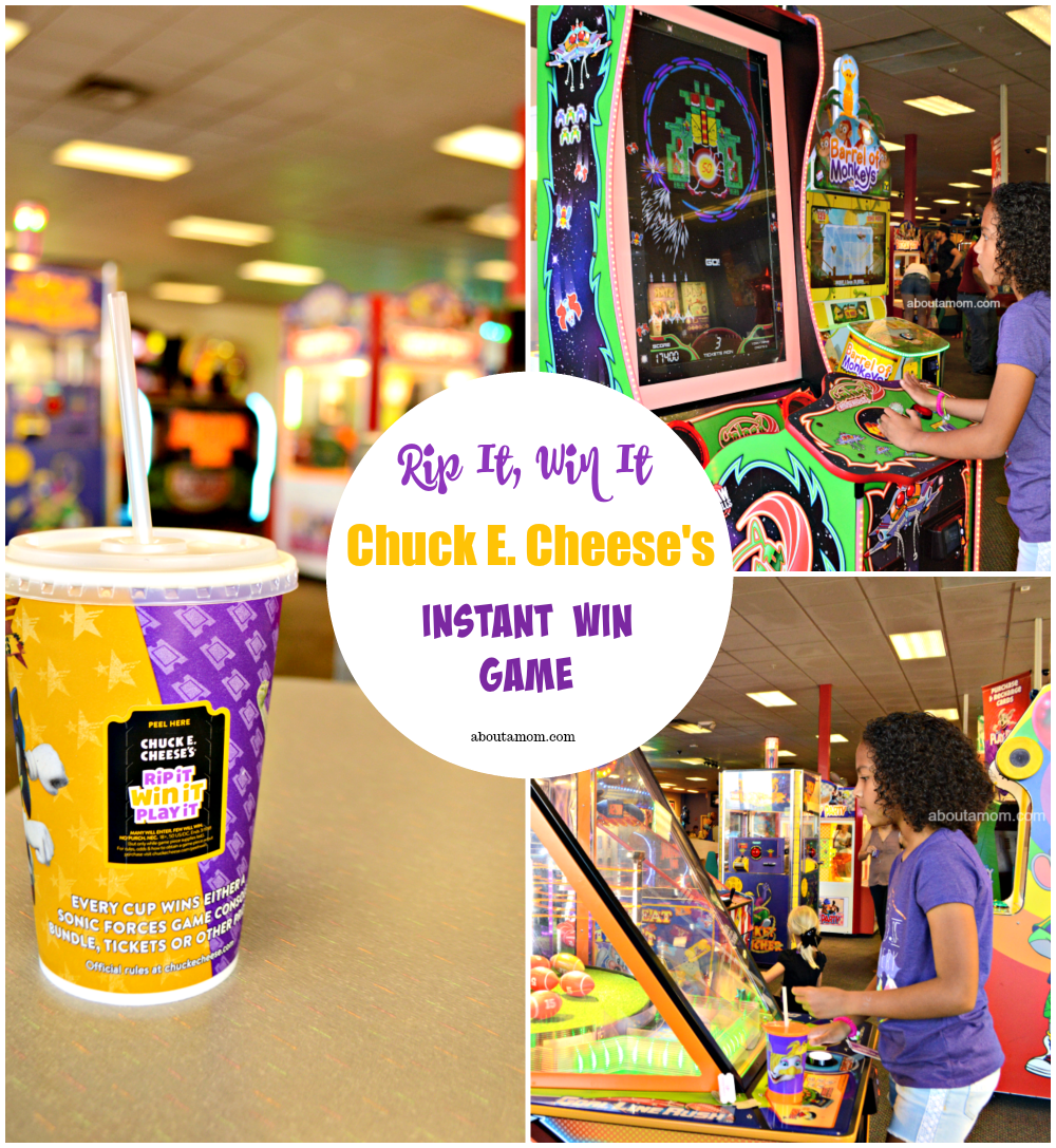 Now through March 11, Chuck E. Cheese's is once again hosting its Rip It, Win it instant win game and everyone's a winner! Chuck E Cheese's Rip It Win It Instant Win Game is just one more reason to head over to Chuck E. Cheese's for some family fun.