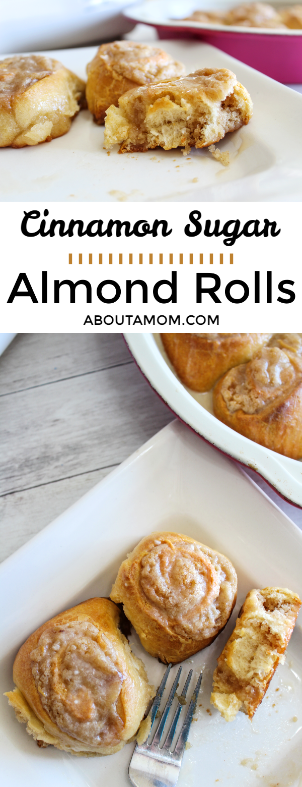 Last year I did some extreme dieting. My heartburn flared up horribly. Fortunately, I was introduced Omeprazole ODT last spring and they made a world of difference for me. With this heartburn relief I can now I can enjoy things like these Cinnamon Sugar Almond Rolls. This not-so-guilty recipe is only 5 Weight Watchers points per serving!