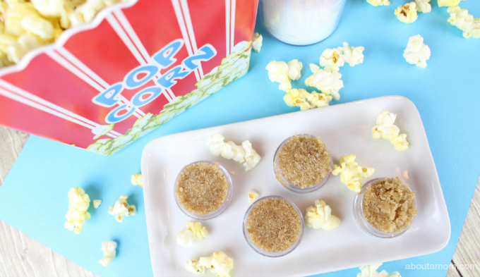 Looking for an awesome DIY beauty idea? This Copycat LUSH Popcorn Lip Scrub is one of my favorites! You are never going to want to buy a lip scrub again, because this is DIY lip scrub so easy to make.