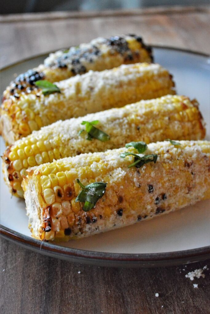 Garlic Parmesan Grilled Corn