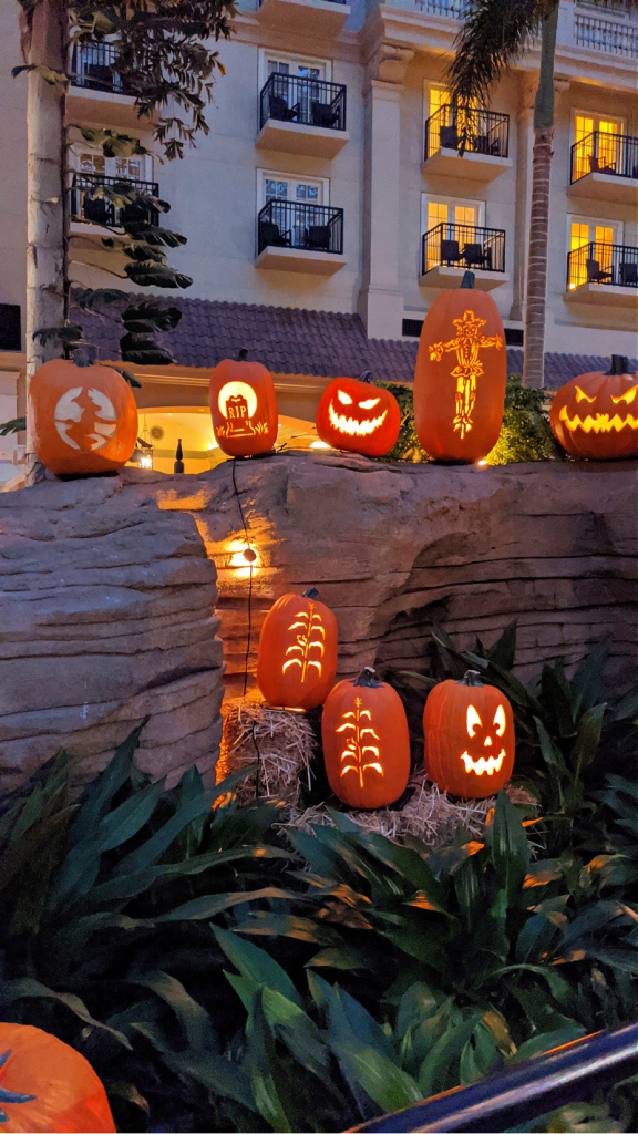 pumpkin display at Gaylord Palms Resort
