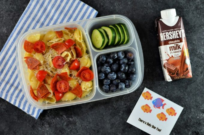 Tis the season for back to school and lunch packing! School day mornings can be a little hectic. Make the morning rush a little easier with these back to school lunch ideas, Hershey's® 2% Chocolate Shelf Stable Milk and FREE printable lunchbox notes.