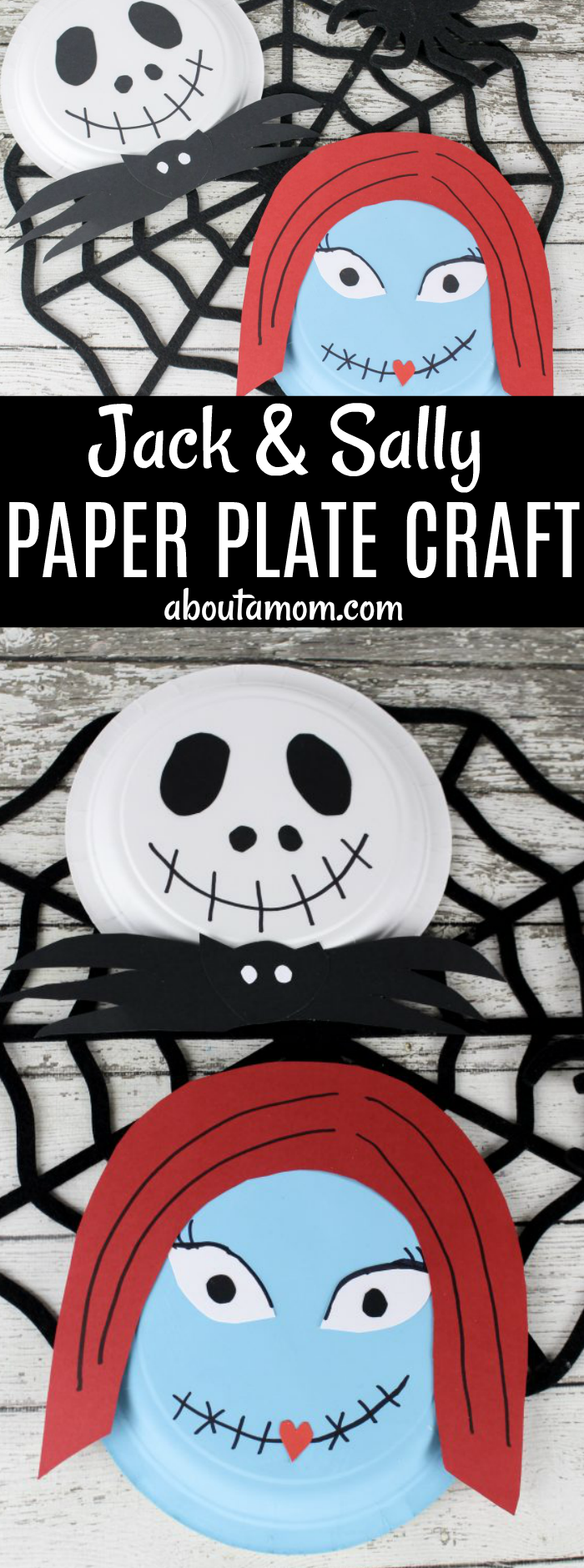 Simple Jack and Sally Halloween Craft - About A Mom