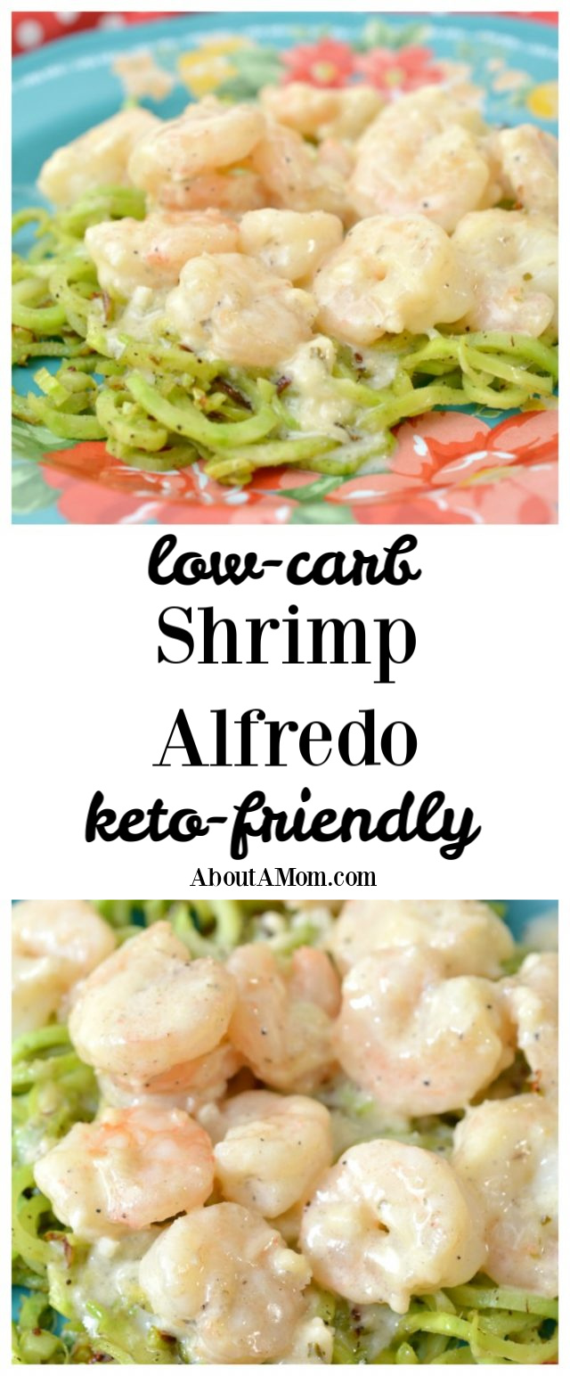 Love alfredo sauce? Want a low carb alfredo sauce? This keto-friendly Shrimp Alfredo is a delicious version of the original that won't ruin your new healthier lifestyle. You won't miss anything but the carbs with this recipe.