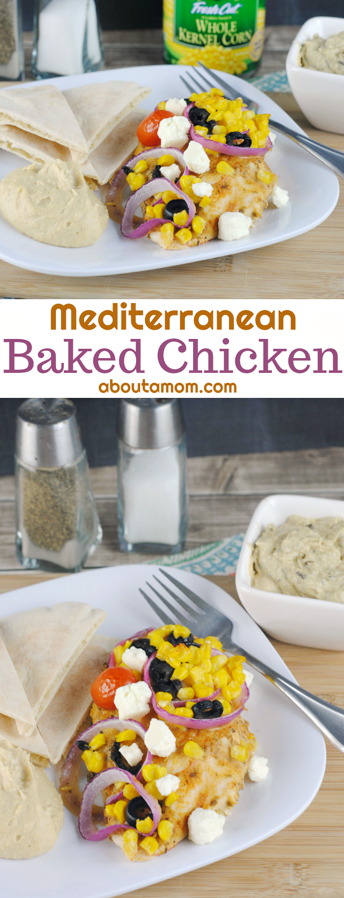 This baked Mediterranean Chicken recipe comes together easily and is perfect for a busy weeknight.