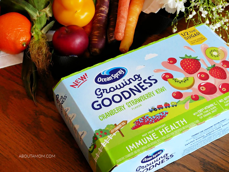 There are a lot of juice drinks on the market that taste good, but Ocean Spray® Growing Goodness™ Kids Juice Drinks not only taste great but have no added sugar, plus they have the added health benefits Immunity and Digestive Health. As a mom, I can feel good about giving these to my child.