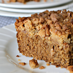 Asour cream coffee cake with an unexpectedcrunchy Cinnamon Pebbles crumb toppingthat everyone will enjoy.